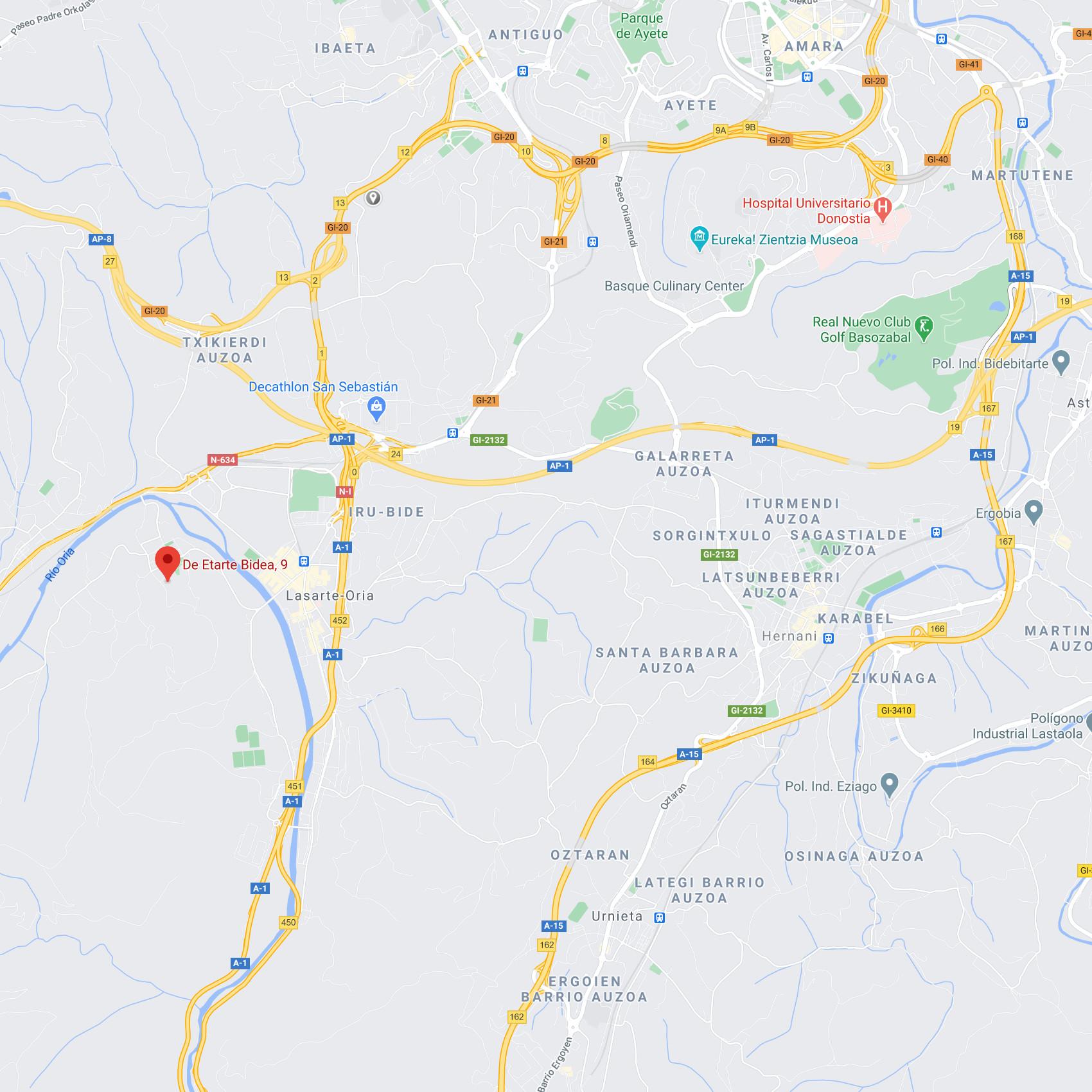 mapa ULE